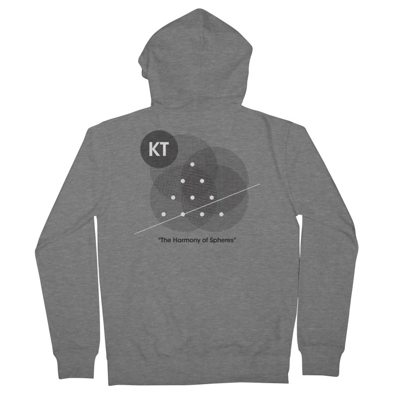 """KT """"The Harmony of Spheres"""" (designed by Matt Klimas) Women's French Terry Zip-Up Hoody by The Cherub Records Shop"""