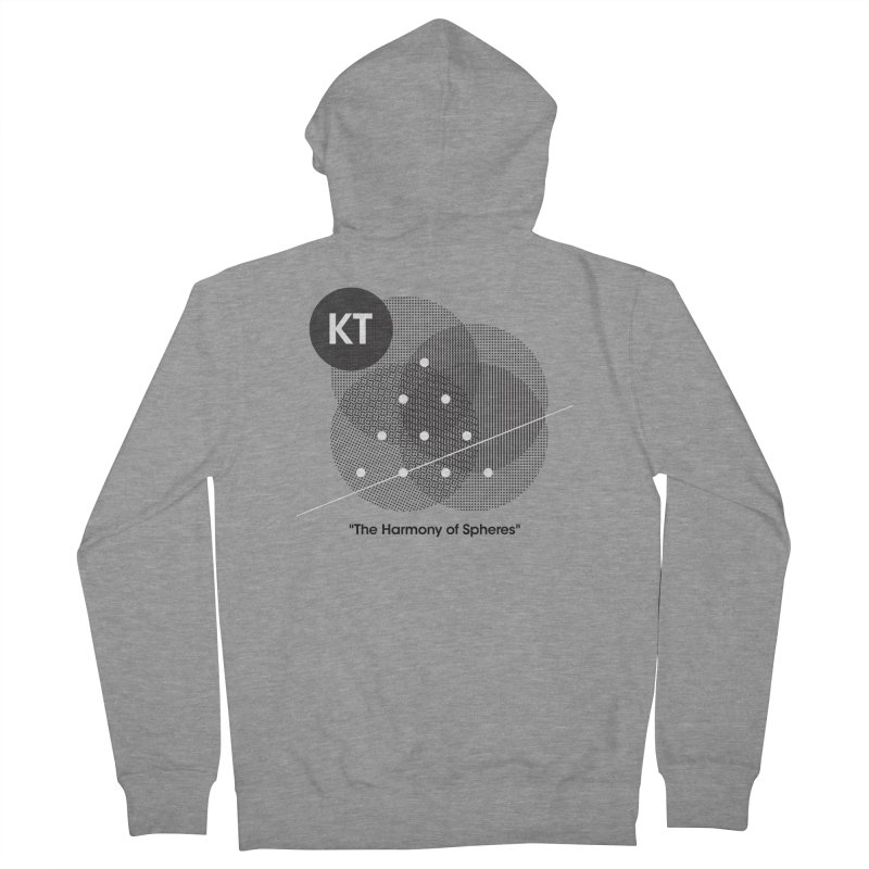 """KT """"The Harmony of Spheres"""" (designed by Matt Klimas) Men's French Terry Zip-Up Hoody by The Cherub Records Shop"""