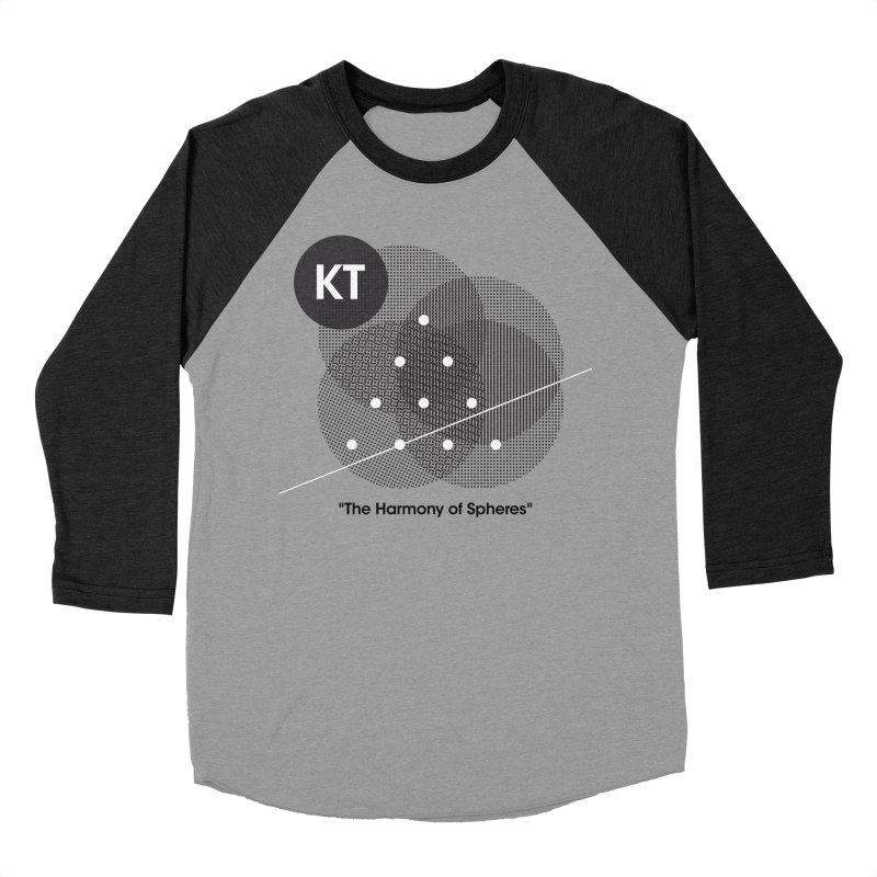 "KT ""The Harmony of Spheres"" (designed by Matt Klimas) Men's Baseball Triblend Longsleeve T-Shirt by The Cherub Records Shop"