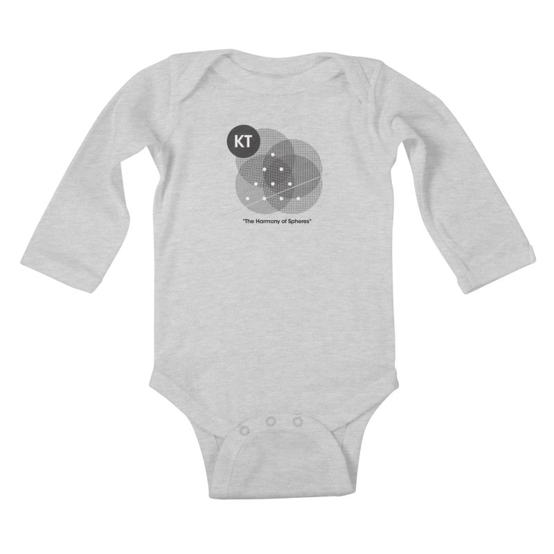 "KT ""The Harmony of Spheres"" (designed by Matt Klimas) Kids Baby Longsleeve Bodysuit by The Cherub Records Shop"