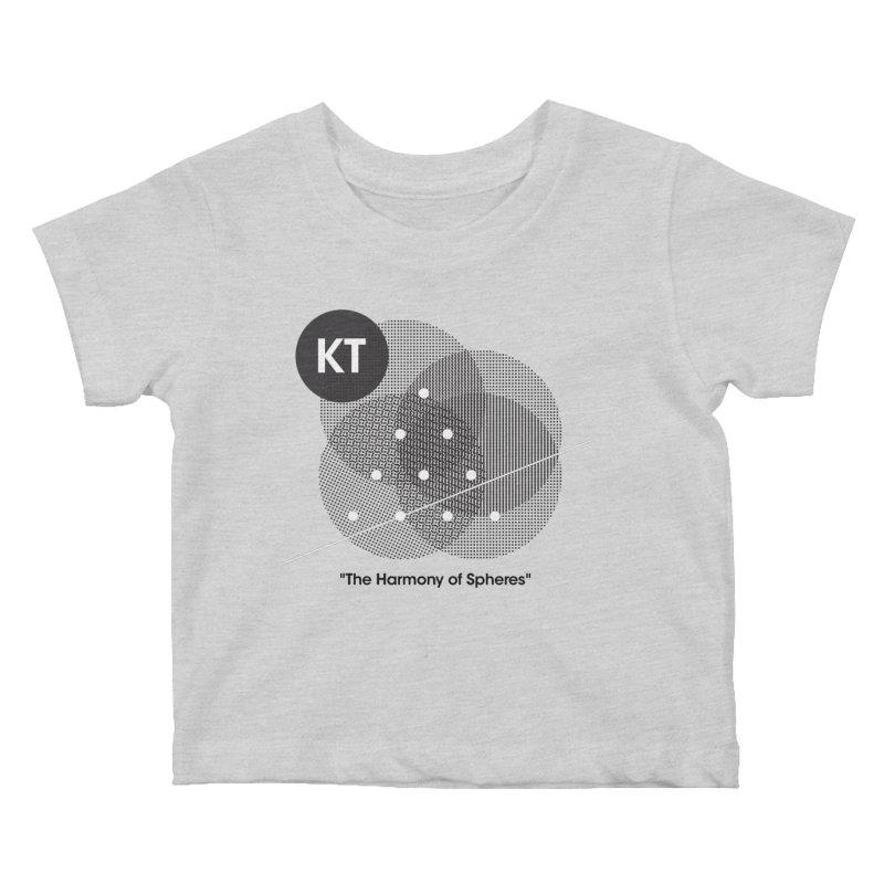 "KT ""The Harmony of Spheres"" (designed by Matt Klimas) Kids Baby T-Shirt by The Cherub Records Shop"