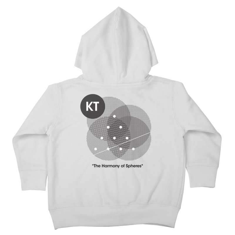 "KT ""The Harmony of Spheres"" (designed by Matt Klimas) Kids Toddler Zip-Up Hoody by The Cherub Records Shop"