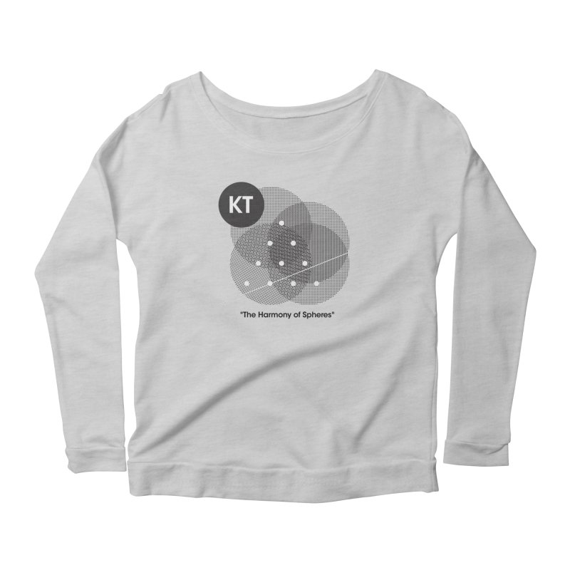 "KT ""The Harmony of Spheres"" (designed by Matt Klimas) Women's Scoop Neck Longsleeve T-Shirt by The Cherub Records Shop"
