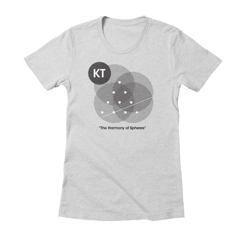 "KT ""The Harmony of Spheres"" (designed by Matt Klimas) Women's Fitted T-Shirt by The Cherub Records Shop"
