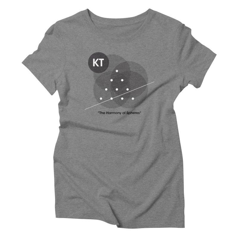 "KT ""The Harmony of Spheres"" (designed by Matt Klimas) Women's Triblend T-Shirt by The Cherub Records Shop"