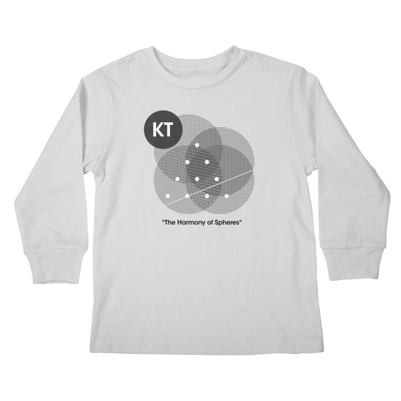 "KT ""The Harmony of Spheres"" (designed by Matt Klimas) Kids Longsleeve T-Shirt by The Cherub Records Shop"