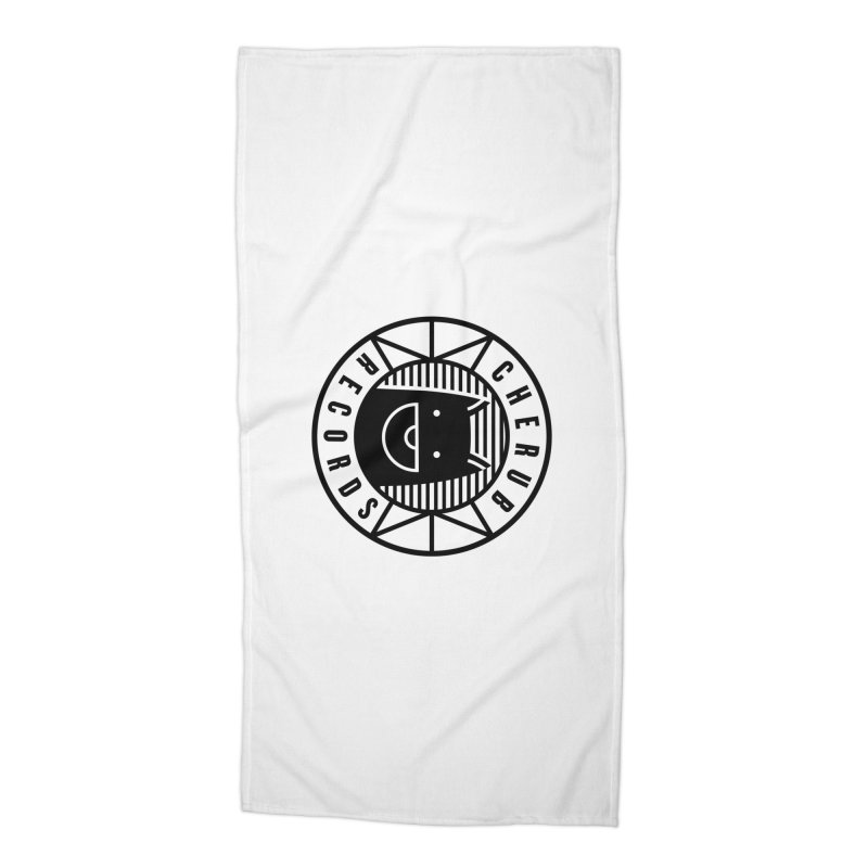 Cherub Circle Logo Accessories Beach Towel by The Cherub Records Shop