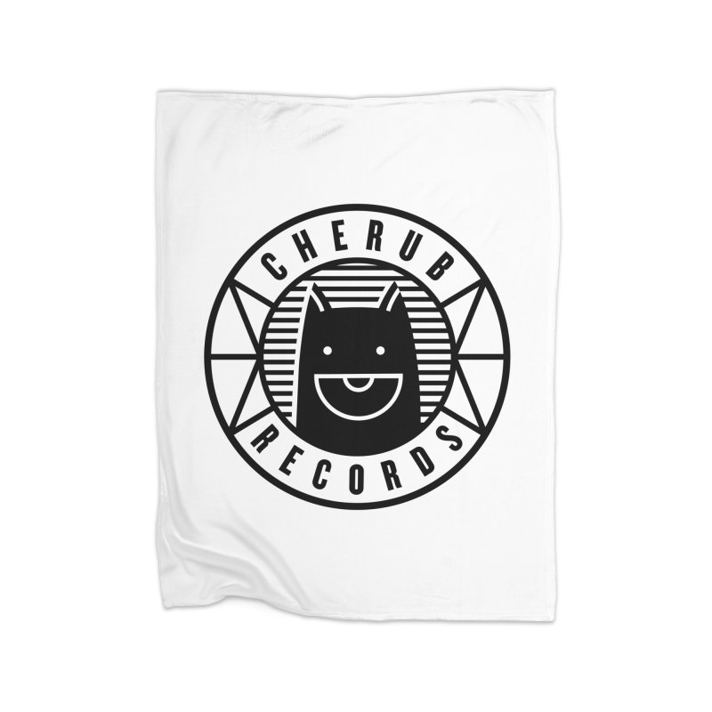 Cherub Circle Logo Home Fleece Blanket Blanket by The Cherub Records Shop