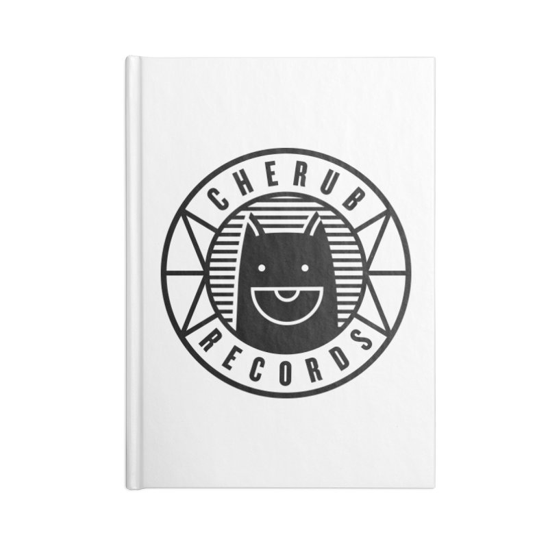 Cherub Circle Logo Accessories Lined Journal Notebook by The Cherub Records Shop