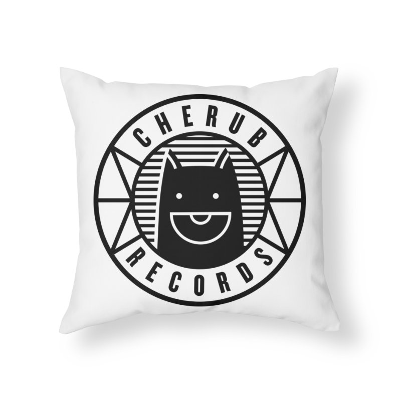 Cherub Circle Logo Home Throw Pillow by The Cherub Records Shop