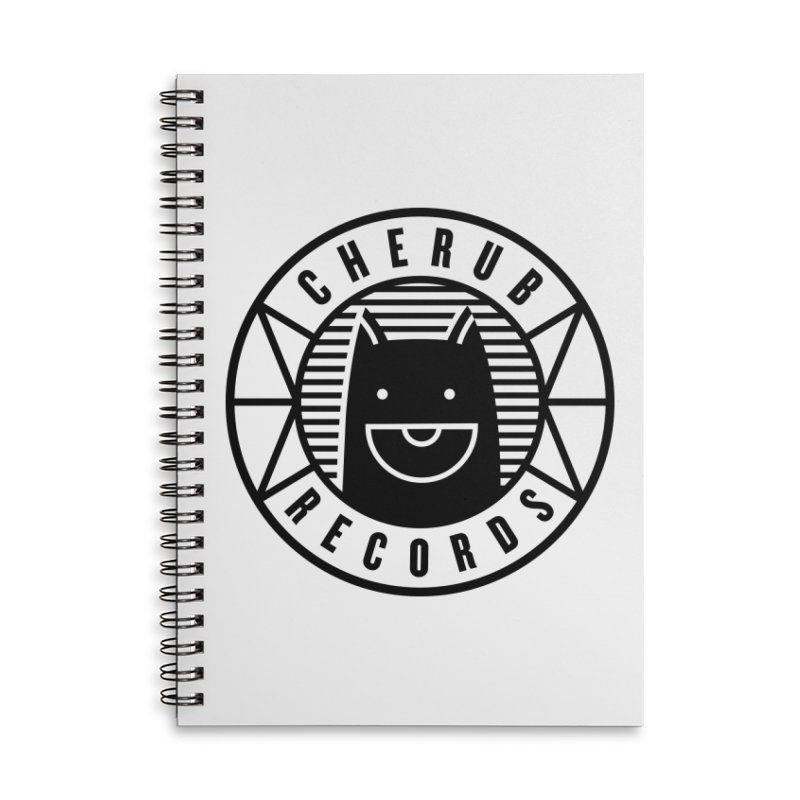 Cherub Circle Logo Accessories Lined Spiral Notebook by The Cherub Records Shop