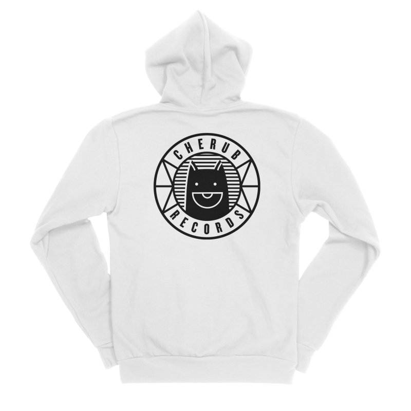 Cherub Circle Logo Men's Sponge Fleece Zip-Up Hoody by The Cherub Records Shop