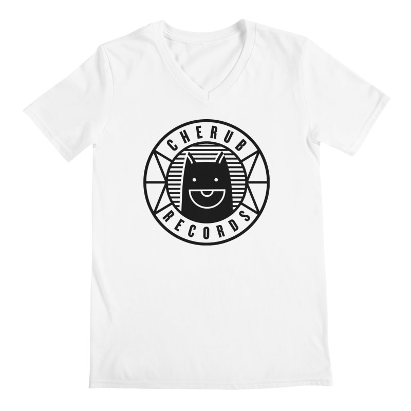 Cherub Circle Logo Men's Regular V-Neck by The Cherub Records Shop