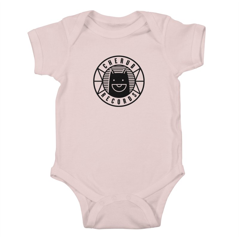 Cherub Circle Logo Kids Baby Bodysuit by The Cherub Records Shop