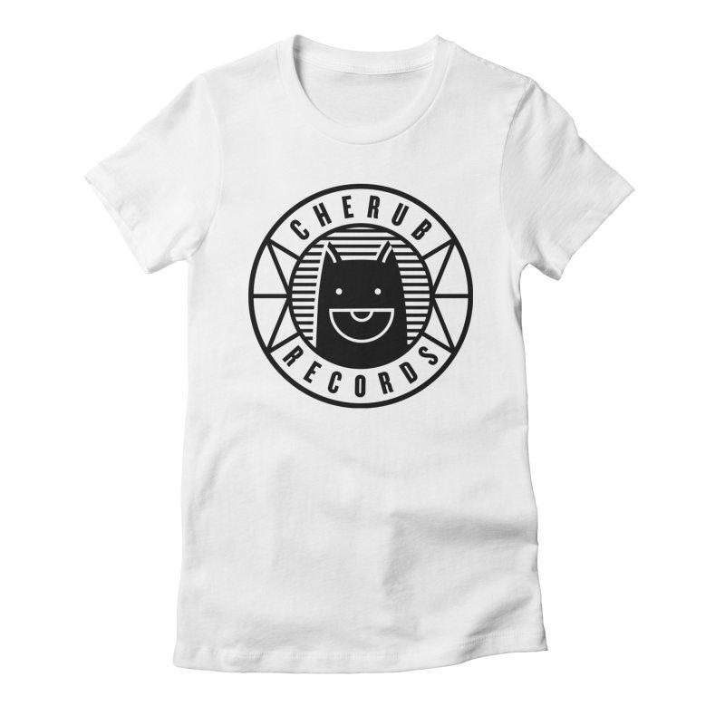 Cherub Circle Logo Women's Fitted T-Shirt by The Cherub Records Shop