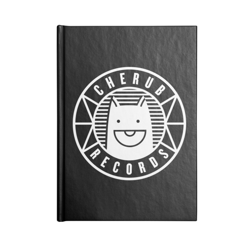 Cherub Circle Logo Reverse Accessories Blank Journal Notebook by The Cherub Records Shop