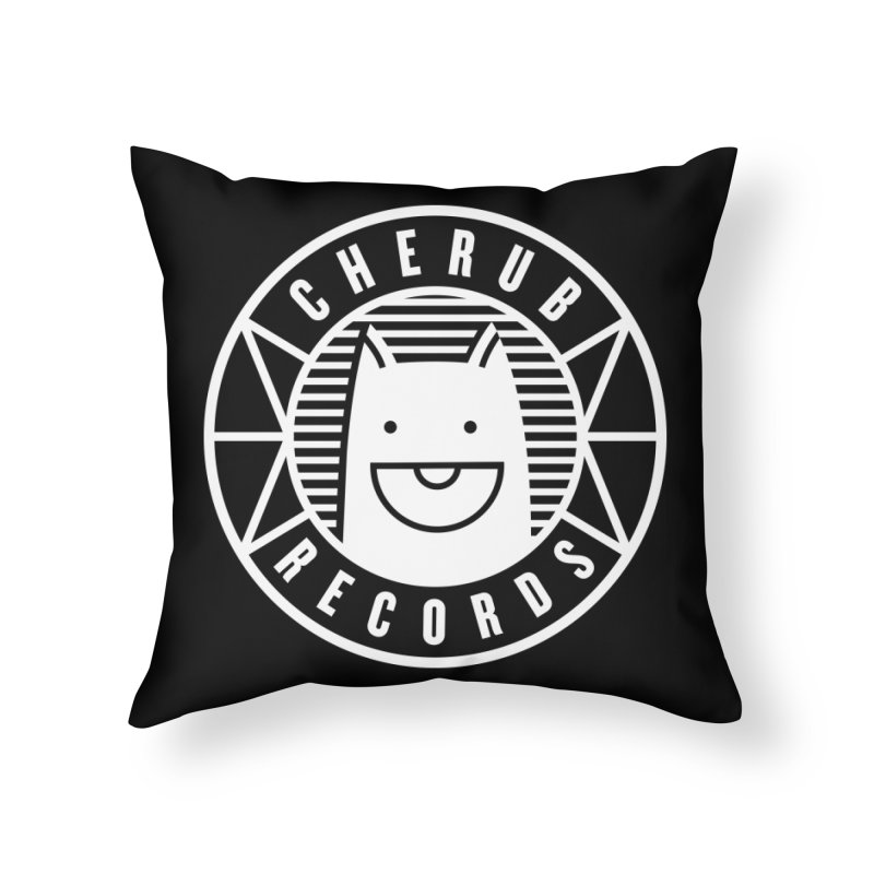Cherub Circle Logo Reverse Home Throw Pillow by The Cherub Records Shop
