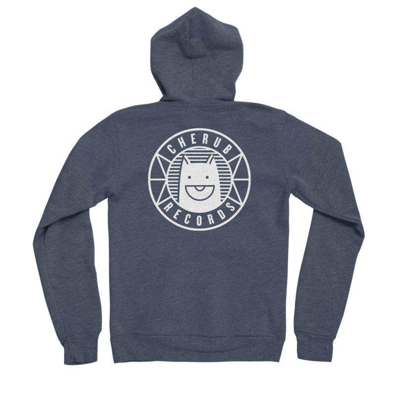 Cherub Circle Logo Reverse Men's Sponge Fleece Zip-Up Hoody by The Cherub Records Shop