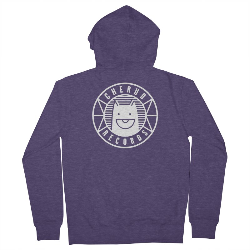 Cherub Circle Logo Reverse Men's French Terry Zip-Up Hoody by The Cherub Records Shop