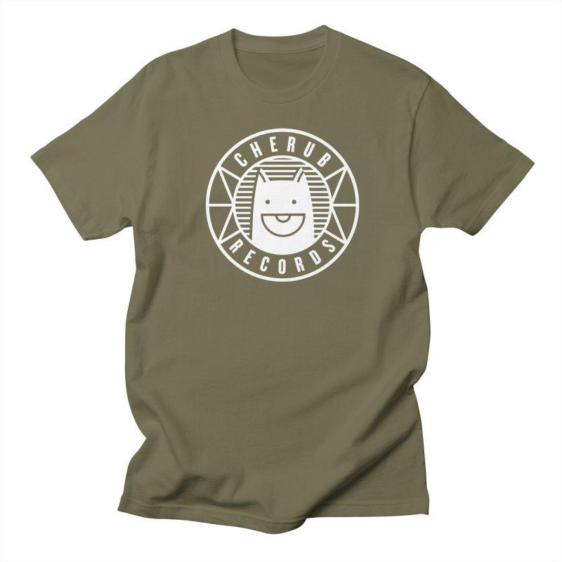 Cherub Circle Logo Reverse Men's Regular T-Shirt by The Cherub Records Shop