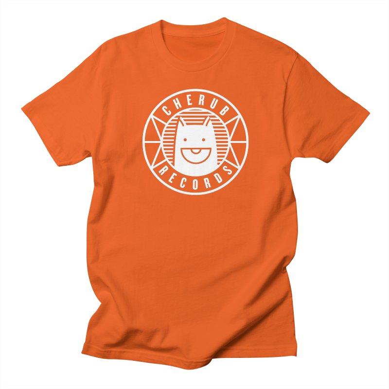 Cherub Circle Logo Reverse Women's Regular Unisex T-Shirt by The Cherub Records Shop