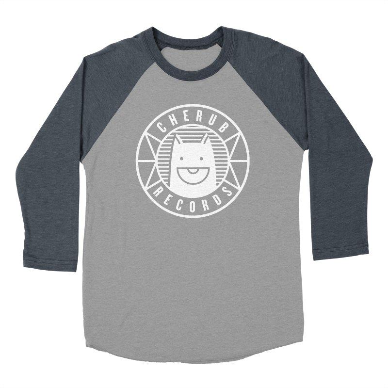 Cherub Circle Logo Reverse Men's Baseball Triblend Longsleeve T-Shirt by The Cherub Records Shop