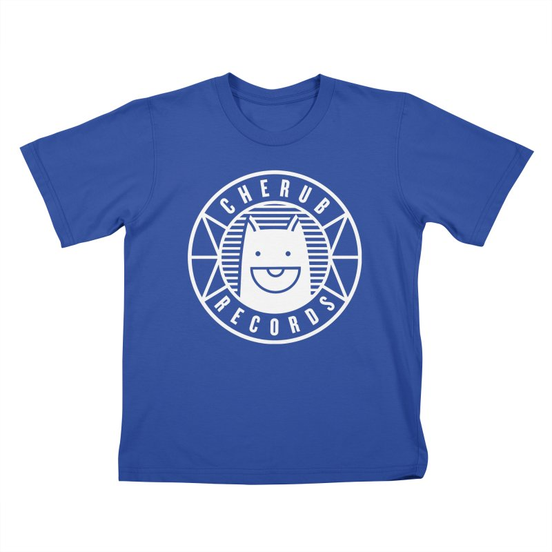 Cherub Circle Logo Reverse Kids T-Shirt by The Cherub Records Shop