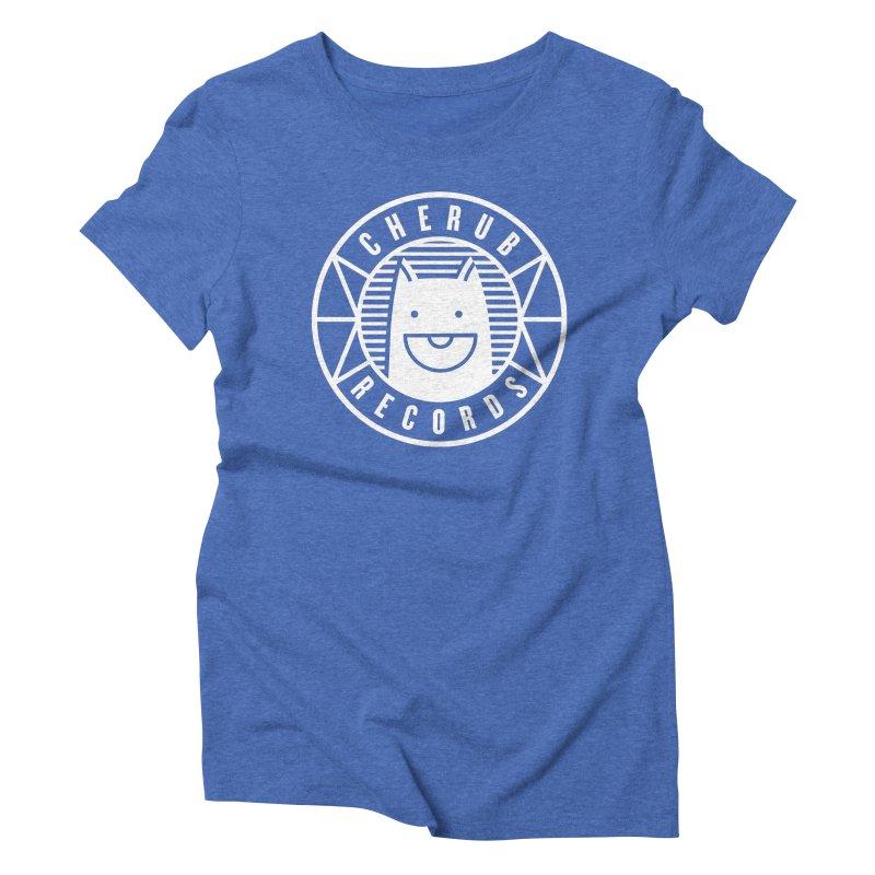 Cherub Circle Logo Reverse Women's Triblend T-Shirt by The Cherub Records Shop