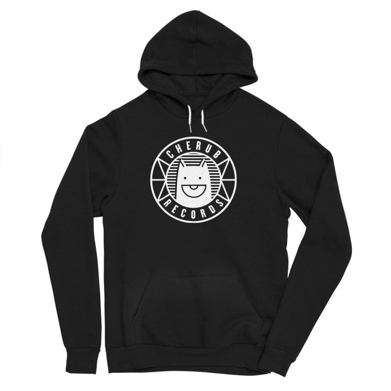 Cherub Circle Logo Reverse Men's Sponge Fleece Pullover Hoody by The Cherub Records Shop