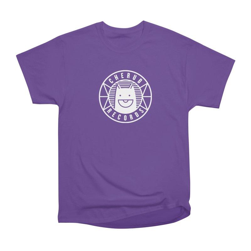 Cherub Circle Logo Reverse Women's Heavyweight Unisex T-Shirt by The Cherub Records Shop