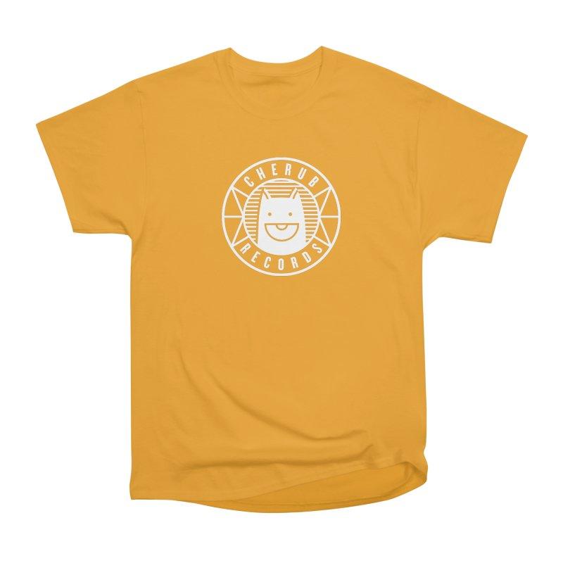 Cherub Circle Logo Reverse Men's Heavyweight T-Shirt by The Cherub Records Shop