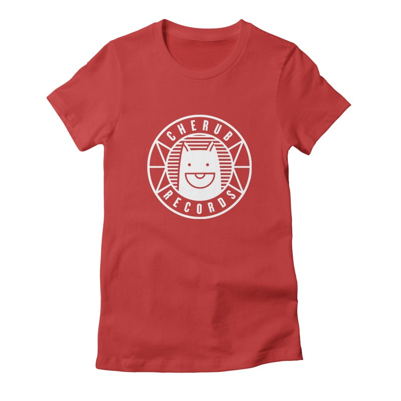 Cherub Circle Logo Reverse Women's Fitted T-Shirt by The Cherub Records Shop
