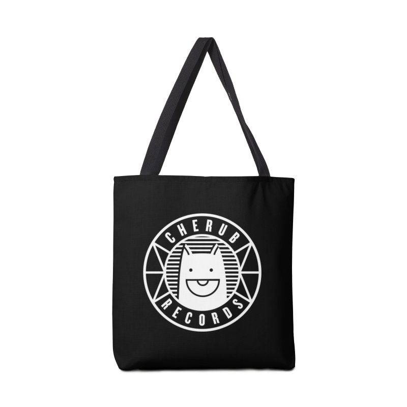 Cherub Circle Logo Reverse Accessories Tote Bag Bag by The Cherub Records Shop