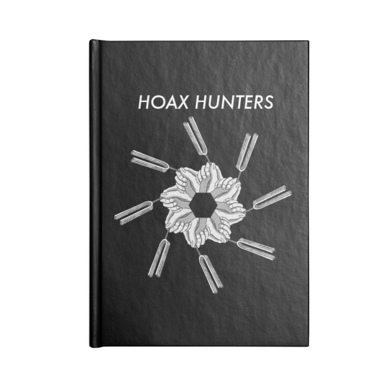 Hoax Hunters Forks Accessories Lined Journal Notebook by The Cherub Records Shop