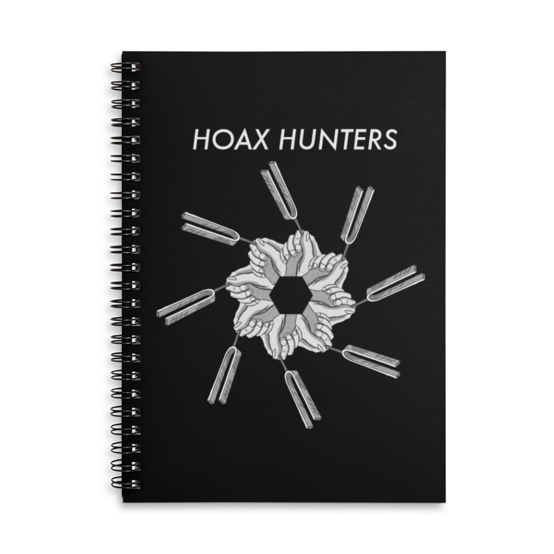 Hoax Hunters Forks Accessories Lined Spiral Notebook by The Cherub Records Shop
