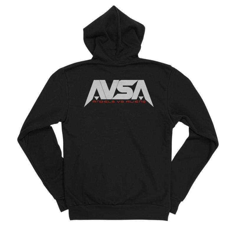 AVSA logo Men's Sponge Fleece Zip-Up Hoody by The Cherub Records Shop