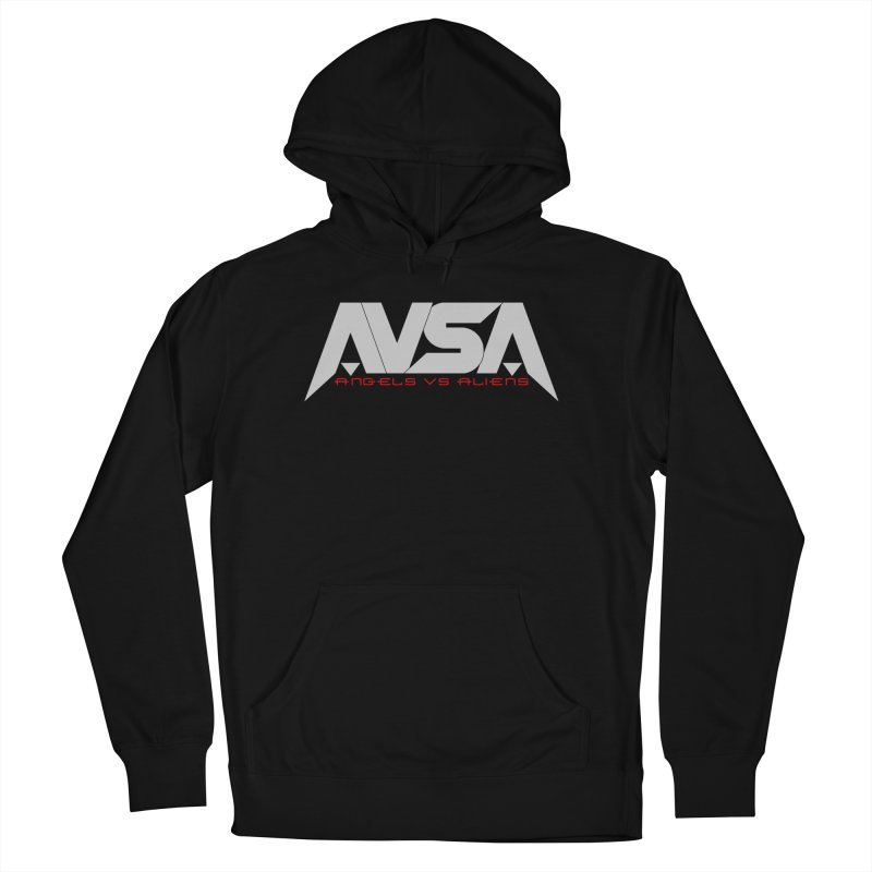AVSA logo Men's French Terry Pullover Hoody by The Cherub Records Shop