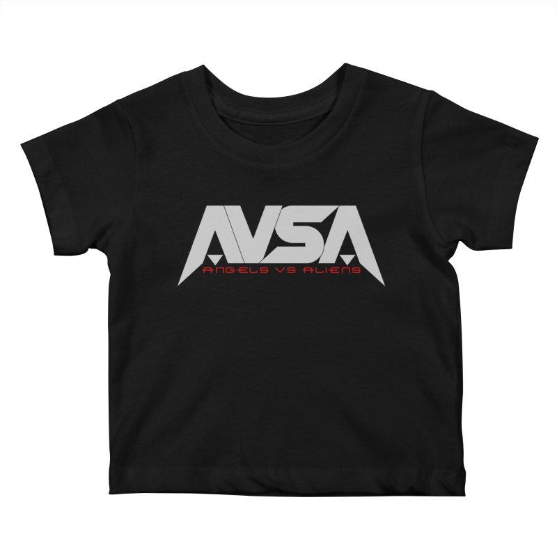 AVSA logo Kids Baby T-Shirt by The Cherub Records Shop