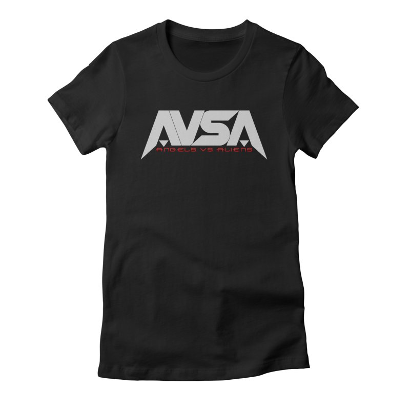 AVSA logo Women's Fitted T-Shirt by The Cherub Records Shop