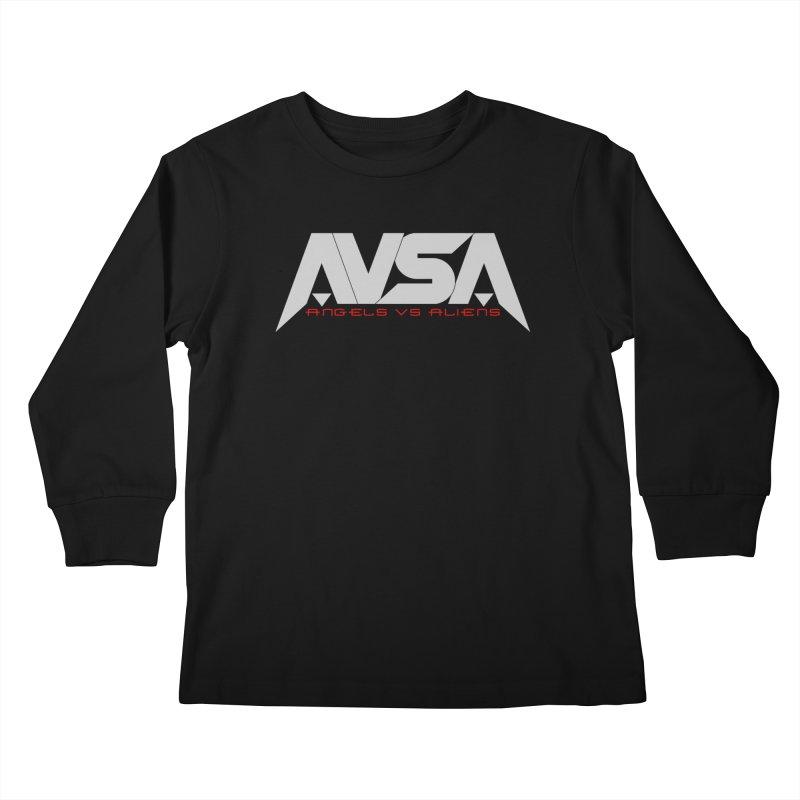 AVSA logo Kids Longsleeve T-Shirt by The Cherub Records Shop