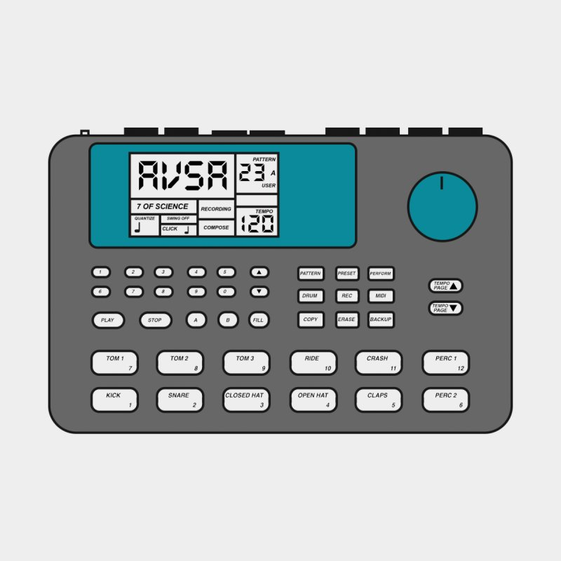 AVSA Drum Machine by The Cherub Records Shop