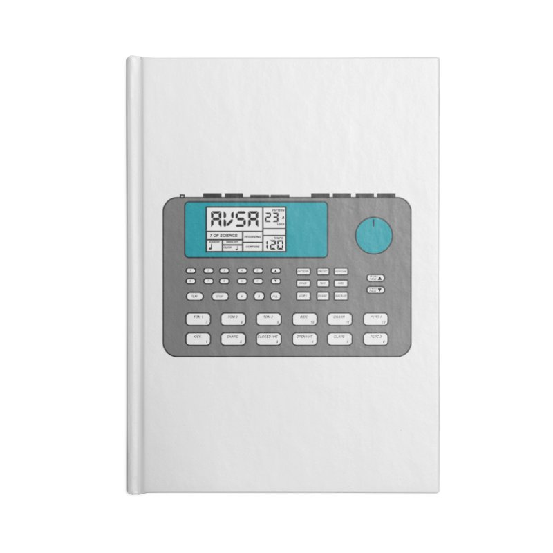 AVSA Drum Machine Accessories Lined Journal Notebook by The Cherub Records Shop