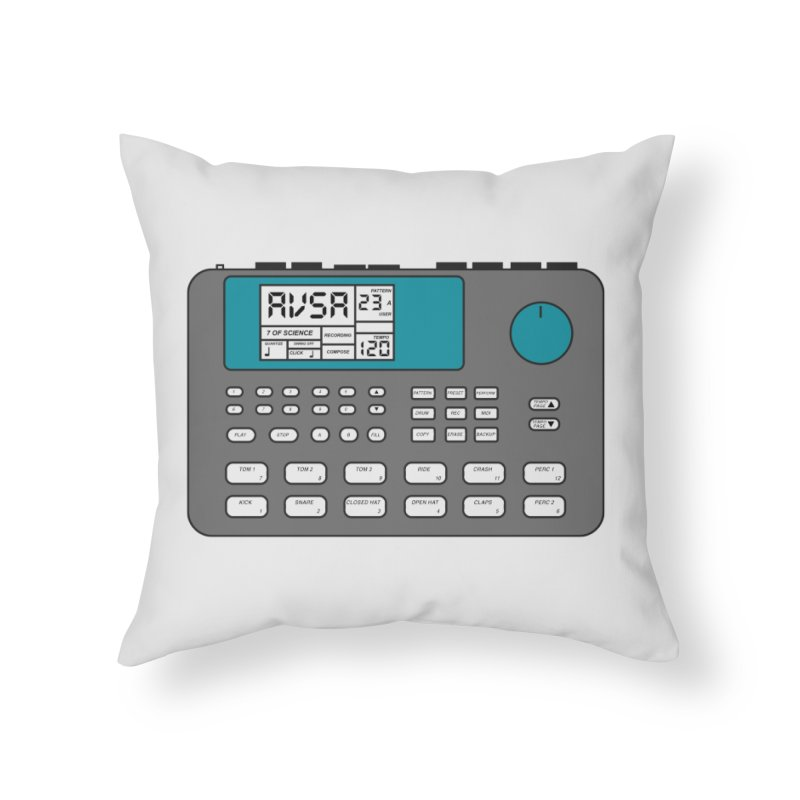 AVSA Drum Machine Home Throw Pillow by The Cherub Records Shop