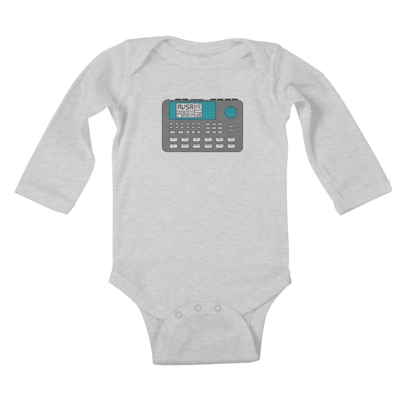 AVSA Drum Machine Kids Baby Longsleeve Bodysuit by The Cherub Records Shop