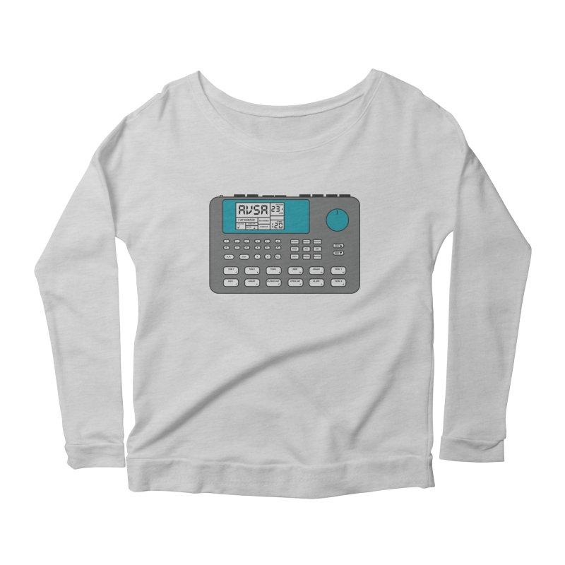 AVSA Drum Machine Women's Scoop Neck Longsleeve T-Shirt by The Cherub Records Shop