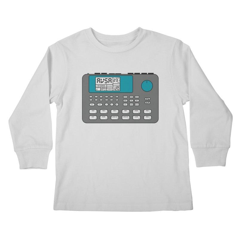 AVSA Drum Machine Kids Longsleeve T-Shirt by The Cherub Records Shop