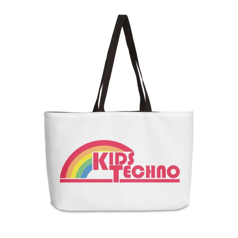 Kids Techno Rainbow Accessories Weekender Bag Bag by The Cherub Records Shop