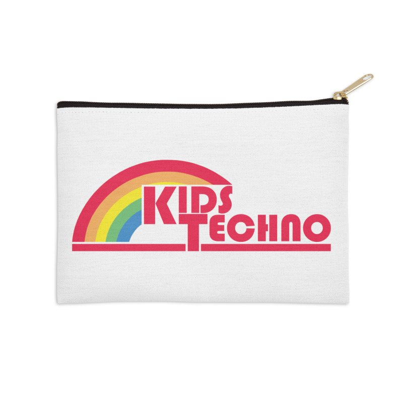 Kids Techno Rainbow Accessories Zip Pouch by The Cherub Records Shop