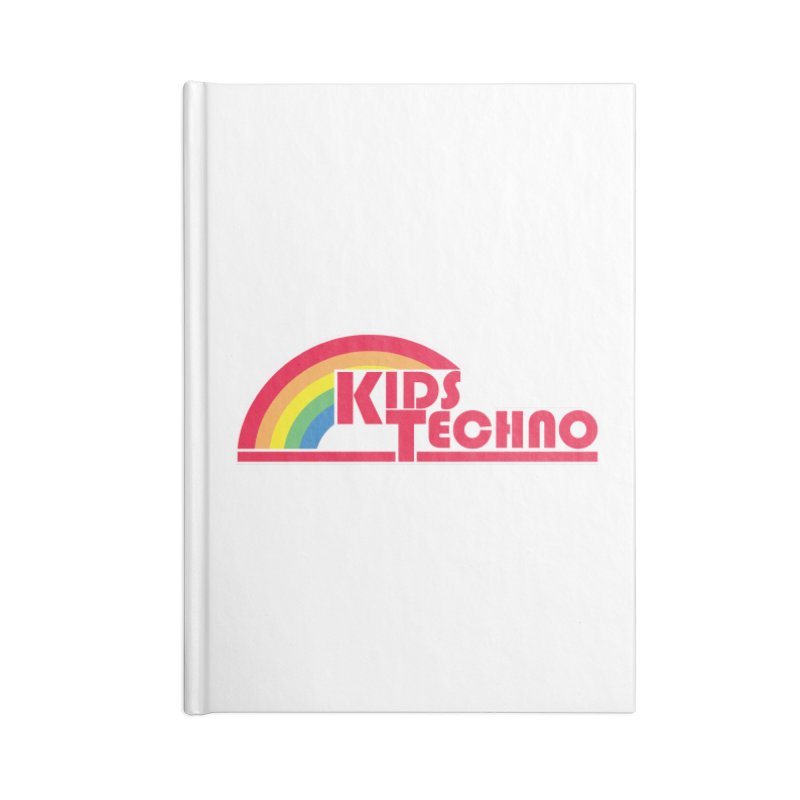 Kids Techno Rainbow Accessories Lined Journal Notebook by The Cherub Records Shop