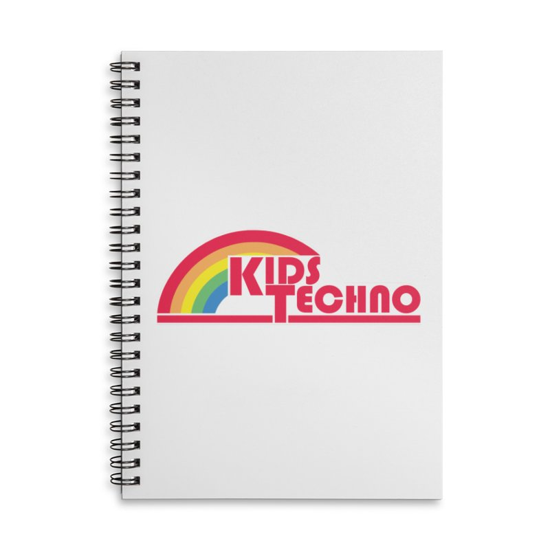 Kids Techno Rainbow Accessories Lined Spiral Notebook by The Cherub Records Shop
